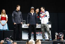 Fernando Alonso, McLaren, and Stoffel Vandoorne, McLaren, are interviewed on stage
