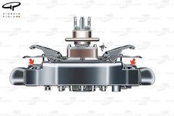 Ferrari F10 steering wheel (Fisichella)