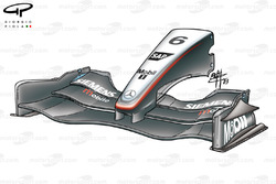 McLaren MP4-18 2003 front wing and nose