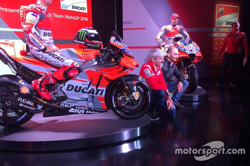 Jorge Lorenzo, Ducati Team, Luigi dall'Igna, Claudio Domenicali e Andrea Dovizioso, Ducati Team