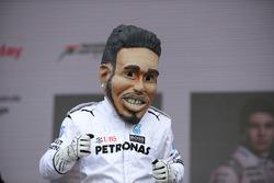 Caricature of Lewis Hamilton, Mercedes AMG F1