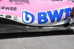 Detalle del suelo del Force India VJM11