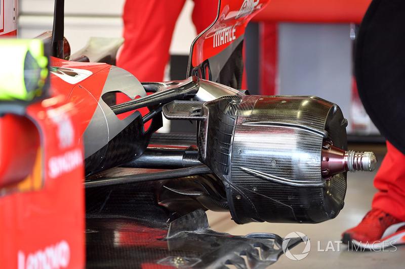 Место крепления заднего колеса Ferrari SF71H