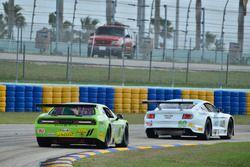#11 TA2 Dodge Challenger, Henri Tuomaala, Stevens Miller Racing, #80 TA2 Ford Mustang, Jordan Bupp, Bupp Motorsports