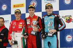 Podium race 1, Artem Petrov (DR Formula,Tatuus F.4 T014 Abarth #42), Marcus Armstrong (Prema Power Team,Tatuus F.4 T014 Abarth #9), Job Van Uitert (Jenzer Motorsport,Tatuus F.4 T014 Abarth #16)