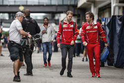 Sebastian Vettel, Ferrari with his trainer Antti Kontsas