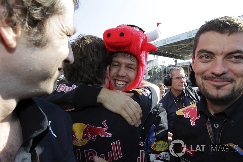 Ganador del GP de Brasil 2010: Sebastian Vettel, Red Bull Racing