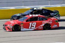 Daniel Suarez, Joe Gibbs Racing, Toyota Camry Coca-Cola and Ross Chastain, Premium Motorsports, Chev