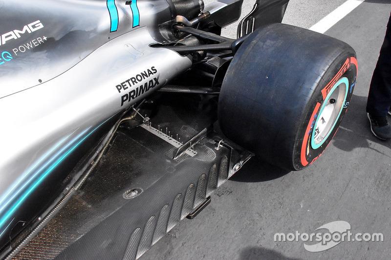 Mercedes AMG F1 W09 detalle de sensores