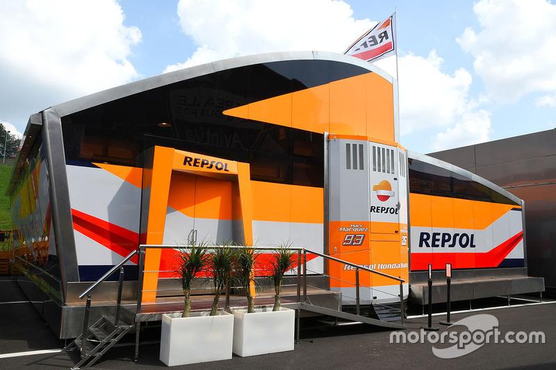 Repsol Honda Team motorhome
