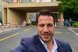 Marco Parroni of Julius Baer Bank checking the Zurich ePrix racetrack