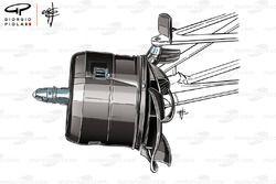 Mercedes W09 front brake drum, Canadian GP