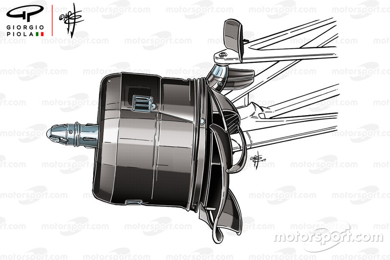 Mercedes W09 front brake drum, Canadian GP