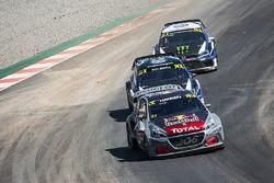 Timmy Hansen, Team Peugeot Total, Petter Solberg, PSRX Volkswagen Sweden, Johan Kristoffersson, PSRX Volkswagen Sweden