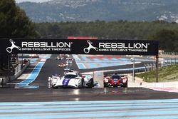 Start of the race #21 Dragonspeed Oreca 07 - Gibson: Henrik Hedman, Nicolas Lapierre, Ben Hanley
