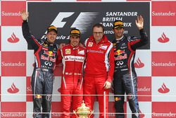 Podium: 1. Fernando Alonso, Ferrari; 2. Sebastian Vettel, Red Bull; 3. Mark Webber, Red Bull