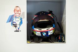 #100 BMW Team SRM BMW M6 GT3: Steve Richards helmet