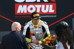 Podium SSP300: Race winner Luca Grunwald
