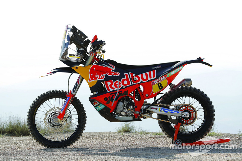 La moto de Toby Price, Red Bull KTM Factory Team