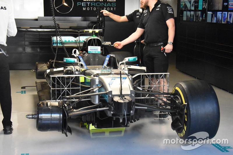 Mercedes W08: Sensoren und Messgeräte