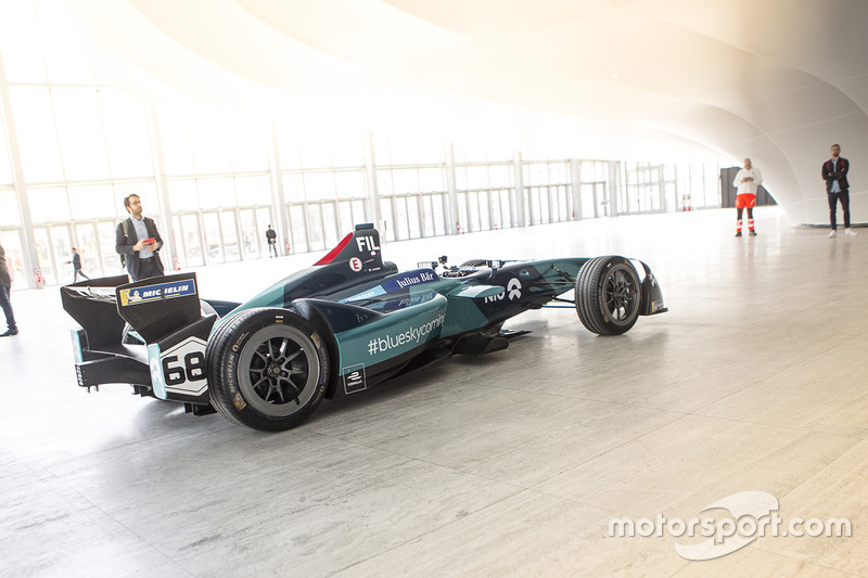 NIO Formula E Team on display in Rome