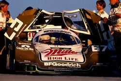 Race winner Bob Wollek, Derek Bell and John Andretti, Porsche 962