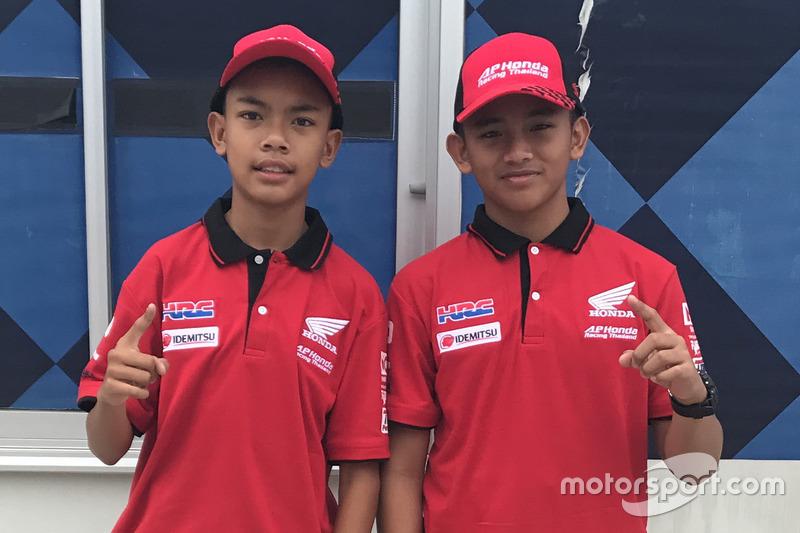 Adenanta Putra dan Mario Suryo Aji saat seleksi Asia Talent Cup 2018