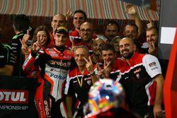 Chaz Davies, Ducati Team, dans le parc fermé
