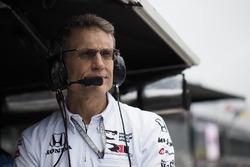 Graham Rahal, Rahal Letterman Lanigan Racing Honda engineer Ricardo Nault