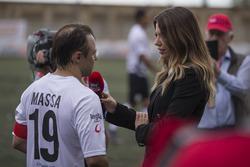 Felipe Massa, parla con Federica Masolin, Presentatrice Sky Italia