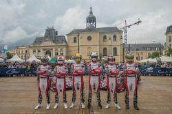 #1 Rebellion Racing Rebellion R-13: Andre Lotterer, Neel Jani, Bruno Senna, #3 Rebellion Racing Rebellion R-13: Mathias Beche, Gustavo Menezes, Thomas Laurent