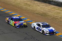 Tomy Drissi, StarCom Racing, Chevrolet Camaro Go Share and Kyle Busch, Joe Gibbs Racing, Toyota Camry M&M's Caramel