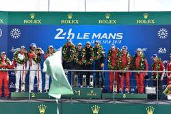 LMGTE Am podium: winners Christian Ried, Julien Andlauer, Matt Campbell, Proton Competition, second place Thomas Flohr, Francesco Castellacci, Giancarlo Fisichella, Spirit of Race, third place #85Ben Keating, Jeroen Bleekemolen, Luca Stolz, Keating Motorsports