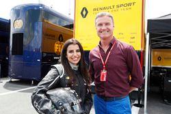 Aseel Al-Hamad, board member of the Saudi Arabian Motor Federation and FIA Saudi Arabia Representative of Women in Motorsport Commission with David Coulthard
