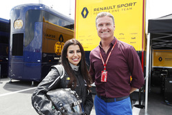Aseel Al-Hamad, board member of the Saudi Arabian Motor Federation and FIA Saudi Arabia Representative of Women in Motorsport Commission with David Coulthard