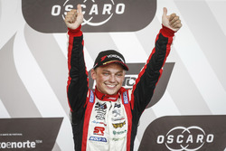 Podium: Race winner Mato Homola, DG Sport Competition Peugeot 308TCR