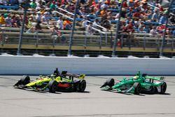 Sébastien Bourdais, Dale Coyne Racing with Vasser-Sullivan Honda, Spencer Pigot, Ed Carpenter Racing Chevrolet