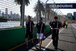 Sergio Perez, Force India VJM11 walks the track