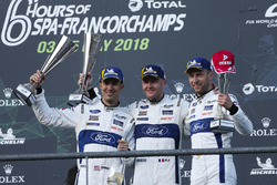 LMGTE podium: winners #66 Ford Chip Ganassi Racing Ford GT: Stefan Mücke, Olivier Pla, Billy Johnson