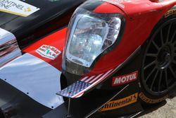 American flag detail on the #38 Performance Tech Motorsports ORECA LMP2, P: James French, Kyle Masson