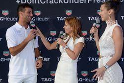 Daniel Ricciardo, Geri Halliwell Horner y Bella Hadid
