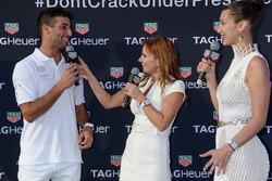 Daniel Ricciardo, Geri Halliwell Horner et Bella Hadid