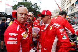 Kimi Raikkonen, Ferrari, on the grid