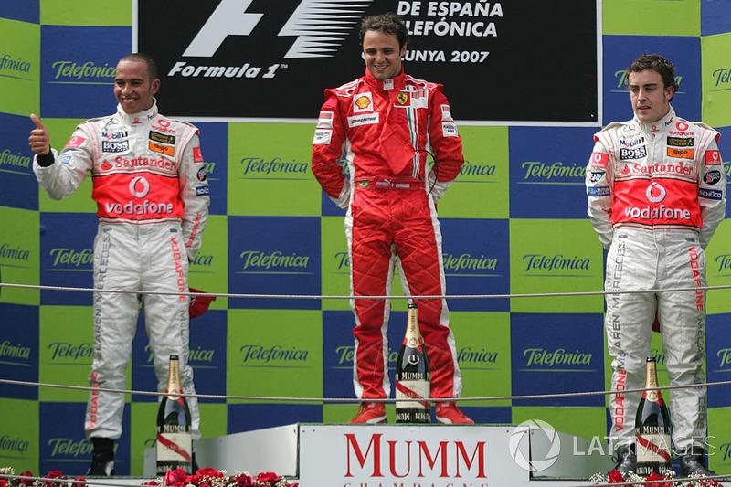 8 Spain 2007: Felipe Massa, Lewis Hamilton, Fernando Alonso