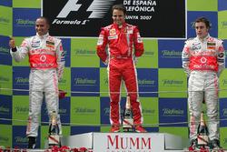race winner Felipe Massa, Ferrari, second place Lewis Hamilton, McLaren, third place Fernando Alonso