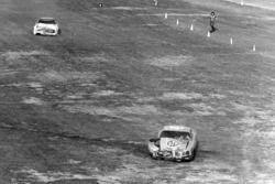 Crash: Richard Petty, Dodge, David Pearson, Mercury