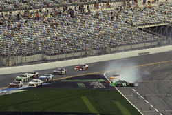 Ryan Ellis, BJ McLeod Motorsports, Densify Toyota Camry, crash, Brandon Jones, Joe Gibbs Racing, Jun