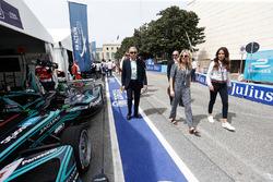 Actress Sienna Miller in the pit lane