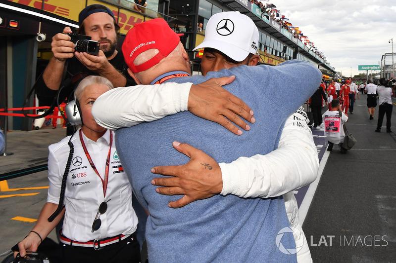 Володар поулу Льюіс Хемілтон, Mercedes-AMG F1, виконавчий директор Mercedes AMG F1 Нікі Лауда