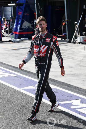Retiro de Romain Grosjean, Haas F1